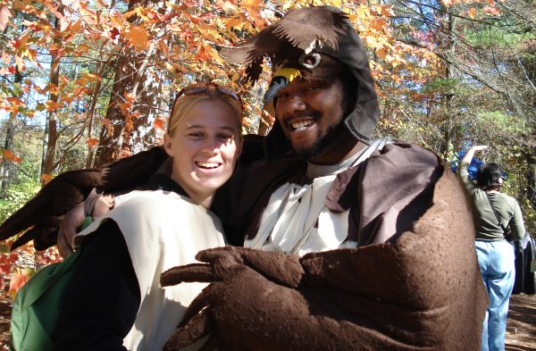 Costumed volunteers at the Fall Harvest Festival