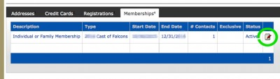 Edit Membership page image