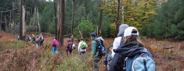Kids on Lake Trail