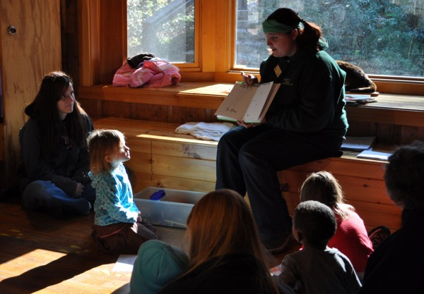 Story time at the nature center