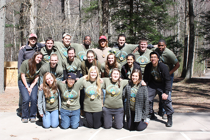 Penn State student counselors at Outdoor School