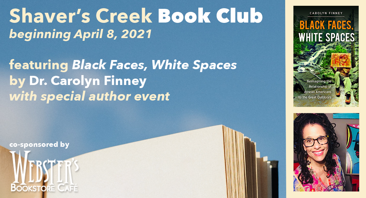 book club details with images of author and book cover
