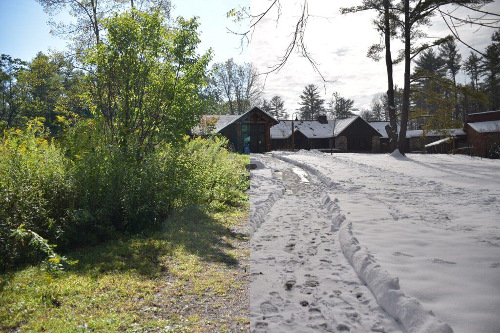 Image displaying seasonal progression at Shaver's Creek